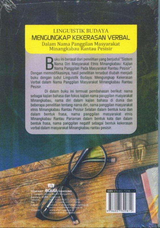 Cover Belakang Buku Linguistik Budaya Mengungkap Kekerasan Verbal