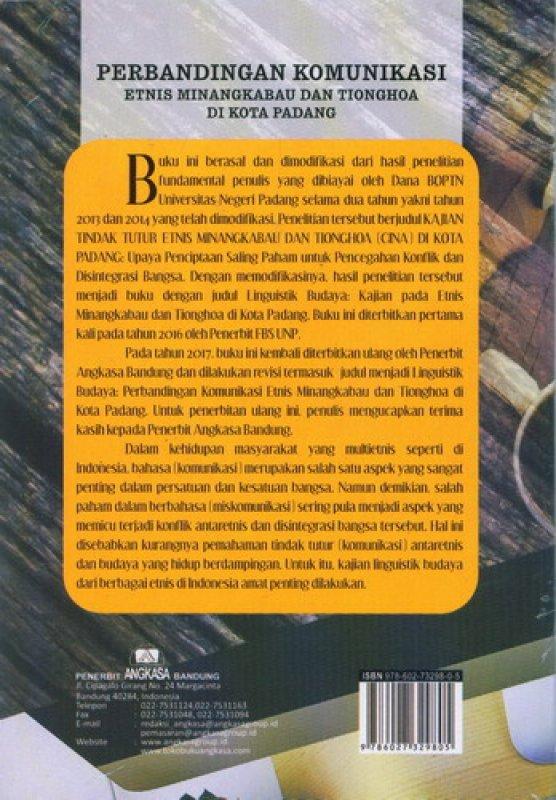 Cover Belakang Buku Perbandingan Komunikasi Etnis Minangkabau Dan Tionghoa Di Kota Padang