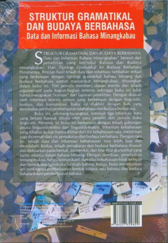 Cover Belakang Buku Struktur Gramatikal dan Budaya Berbahasa