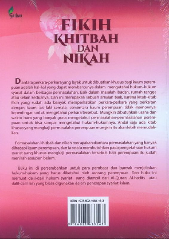 Cover Belakang Buku Fikih Khitbah dan Nikah