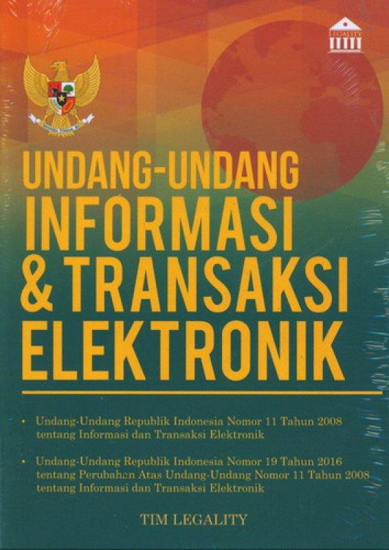 Cover Buku Undang-Undang Informasi & Transaksi Elektronik