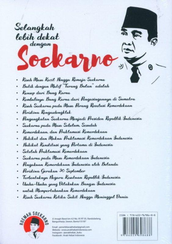 Cover Belakang Buku Selangkah Lebih Dekat dengan Soekarno