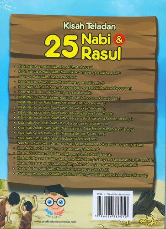 Cover Belakang Buku Kisah Teladan 25 Nabi & Rasul Disertai Silsilah Nabi Penuh Hikmah & Pesan Moral