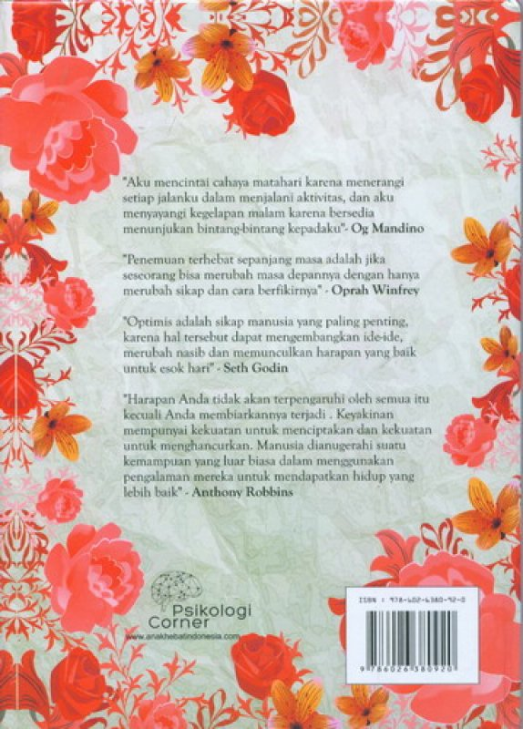 Cover Belakang Buku The Miracle of Positive Thinking