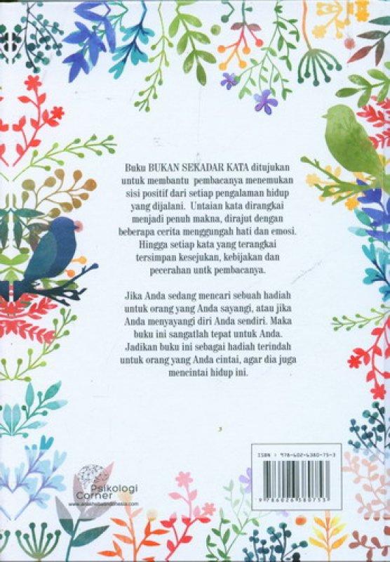 Cover Belakang Buku Bukan Sekadar Kata