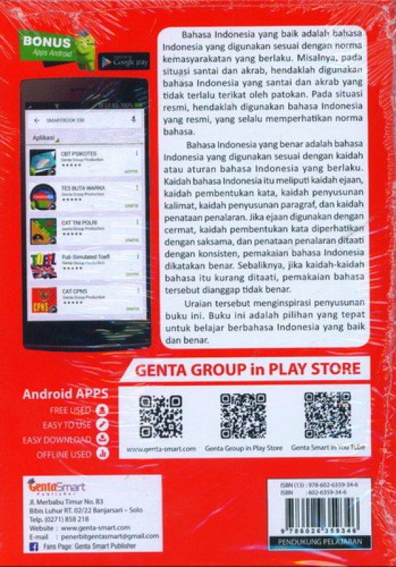 Cover Belakang Buku Smart Book Pedoman Umum EBI Ejaan Bahasa Indonesia