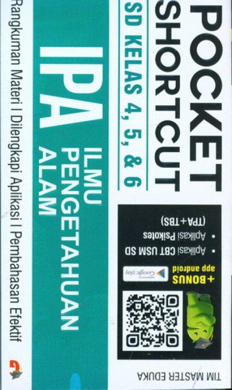Cover Buku Pocket Shortcut IPA SD Kelas 4, 5, 6