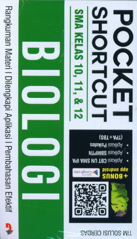 Cover Buku Pocket Shortcut BIOLOGI SMA Kelas 10, 11, 12