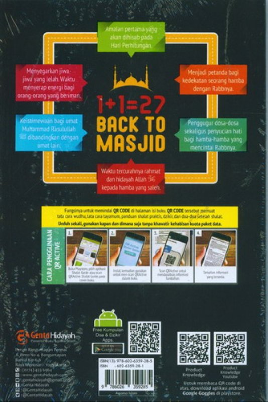 Cover Belakang Buku Back To Masjid (1+1=27)