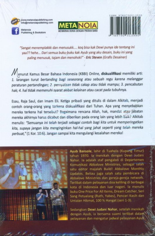 Cover Belakang Buku DISKUALIFIKASI