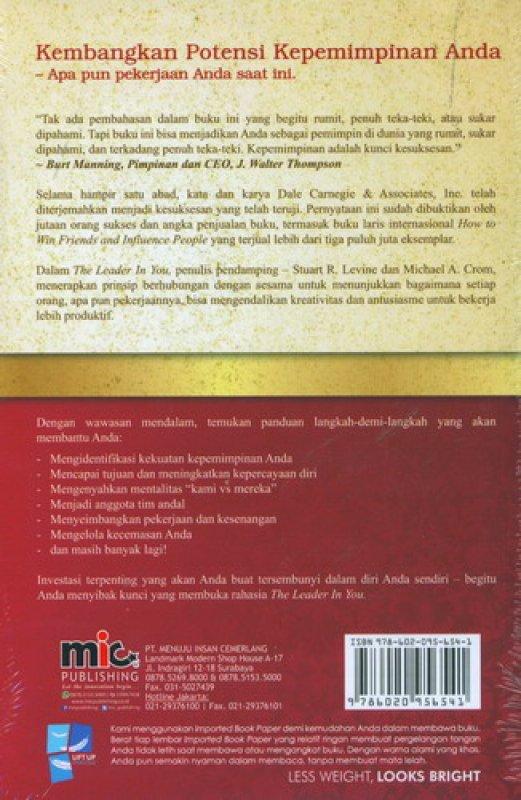Cover Belakang Buku The Leader in You