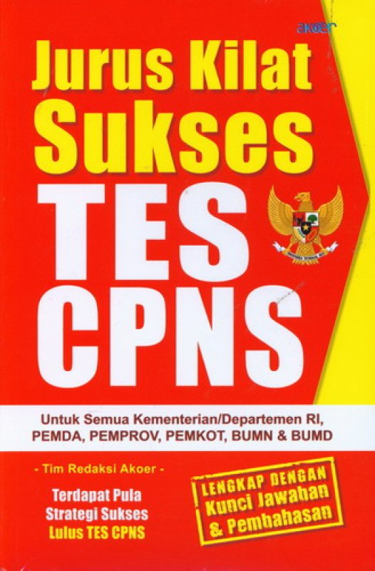 Cover Buku Jurus Kilat Sukses TES CPNS