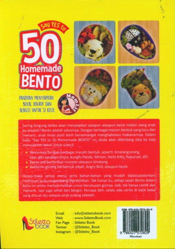 Cover Belakang Buku Say Yes to 50 Homemade Bento