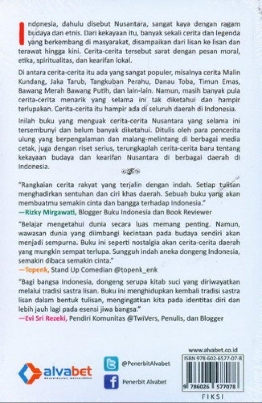 Cover Belakang Buku Indonesia Bercerita: Kisah-Kisah Rakyat yang Terlupakan