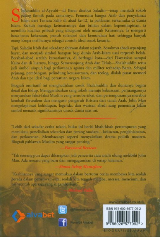 Cover Belakang Buku Shalahuddin Al-Ayyubi