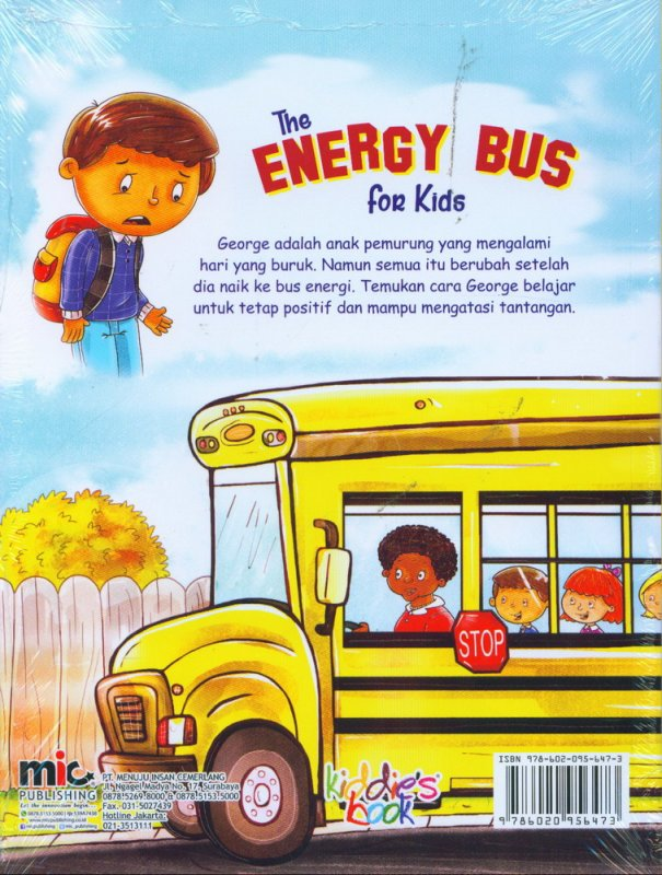 Cover Belakang Buku The Energy Bus for Kids [free creative attitude building board game for children]