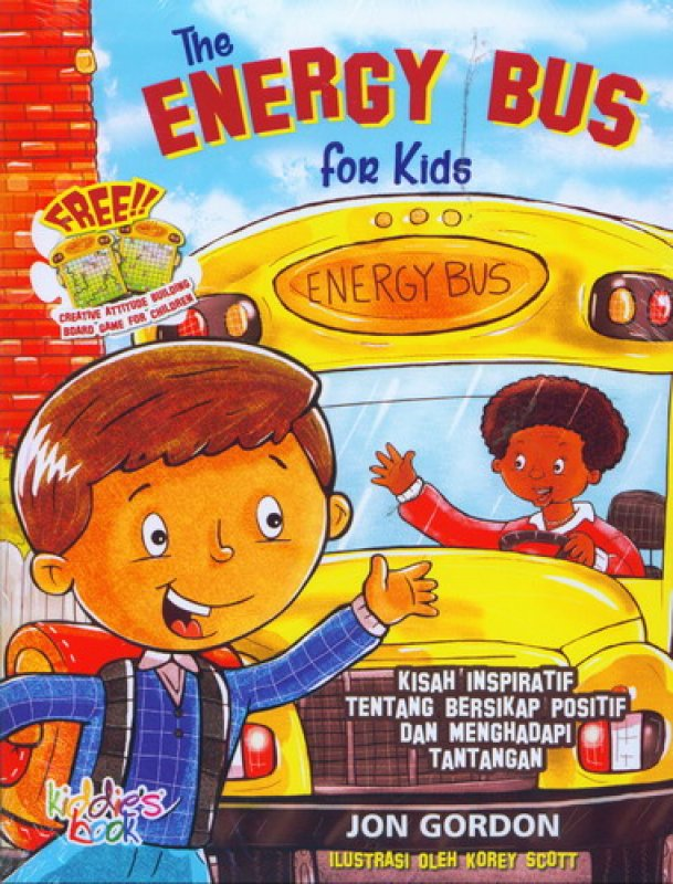 Cover Buku The Energy Bus for Kids [free creative attitude building board game for children]