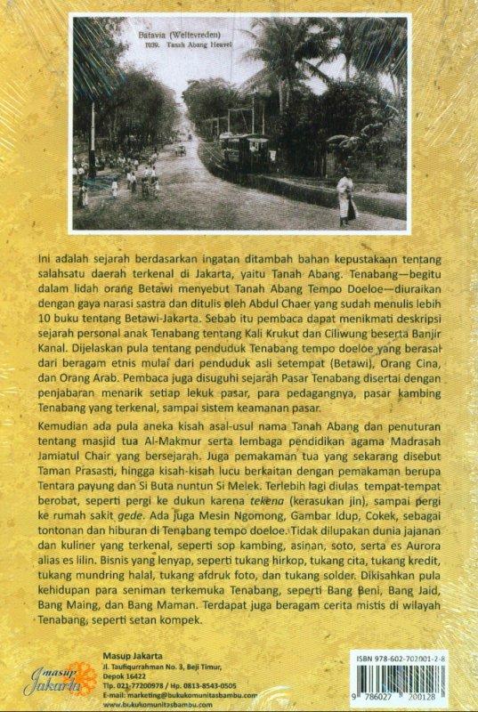 Cover Belakang Buku Tenabang Tempo Doeloe