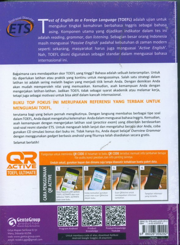 Cover Belakang Buku ULTIMATE EDITION TOEFL