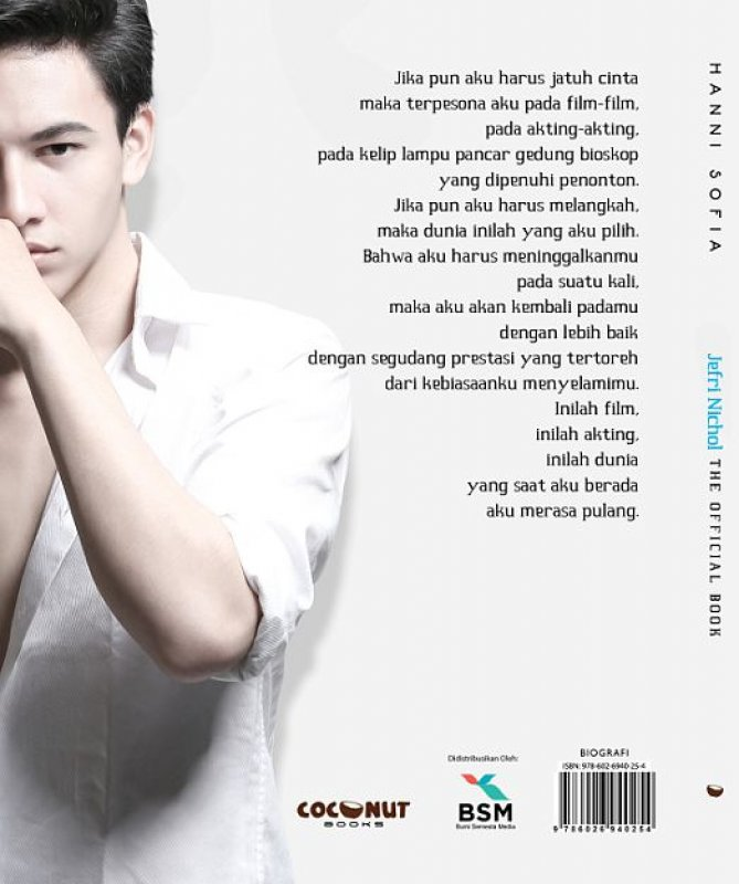 Cover Belakang Buku Jefri Nichol - The Official Book (Disc 50%)