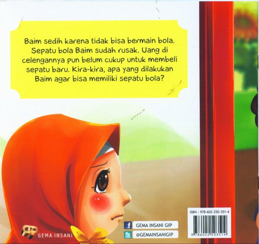 Cover Belakang Buku Tauhid for Kids: Allah Maha Memberi Rezeki - Sepatu Bola Baim [full color]