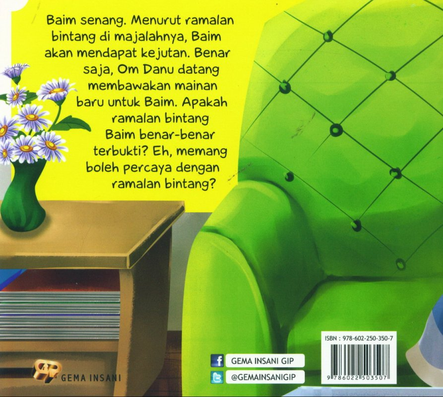 Cover Belakang Buku Tauhid for Kids: Larangan Percaya Ramalan - Ramalan Bintang Baim [full color]