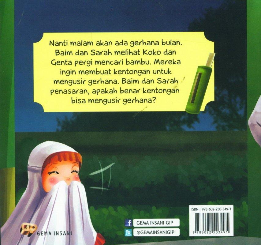 Cover Belakang Buku Tauhid for Kids: Allah Maha Mengatur Alam - Kentongan Pengusir Gerhana [full color]