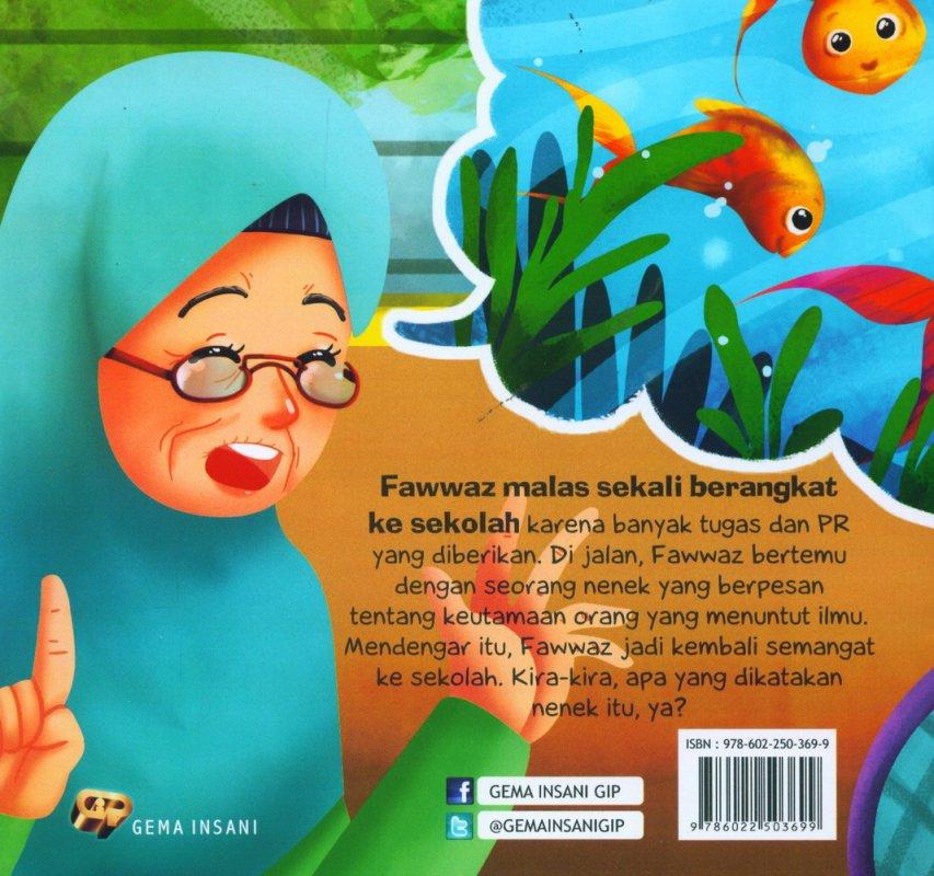 Cover Belakang Buku Anak Saleh Didoakan Malaikat: Ikan-Ikan Ikut Mendoakan [full color]