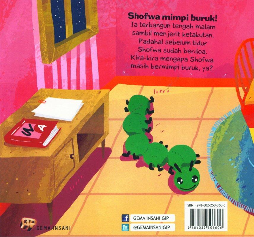 Cover Belakang Buku Anak Saleh Didoakan Malaikat: Mimpi Shofwa [full color]