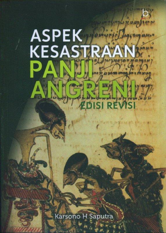Cover Buku Aspek Kesastraan Panji Angreni Edisi Revisi