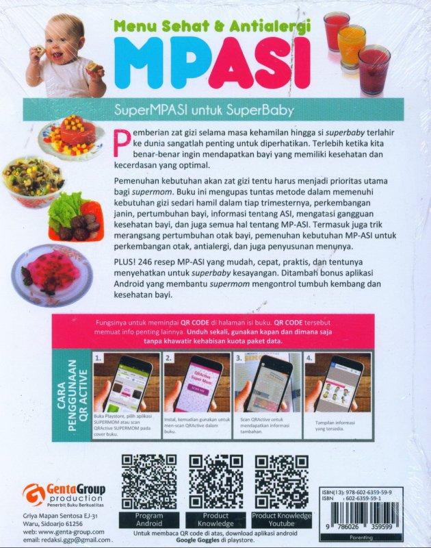Cover Belakang Buku Menu Sehat & Antialergi MPASI