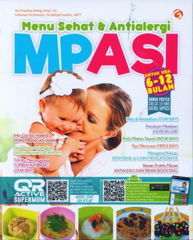Cover Buku Menu Sehat & Antialergi MPASI