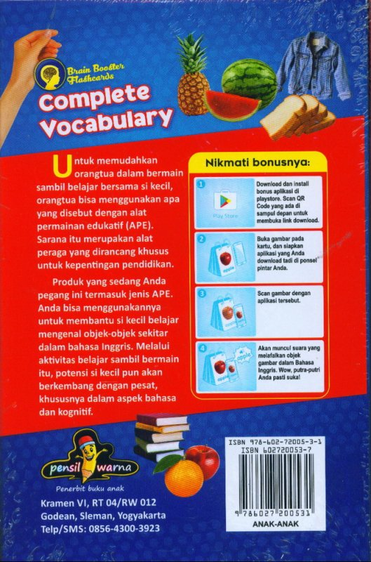 Cover Belakang Buku Complete Vocabulary 9 in 1