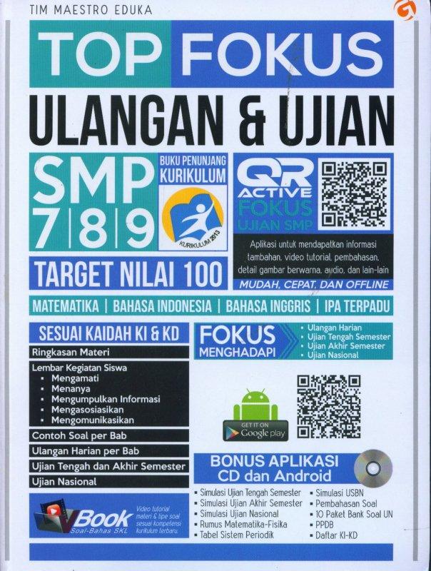 Cover Buku TOP FOKUS ULANGAN & UJIAN SMP 7,8,9