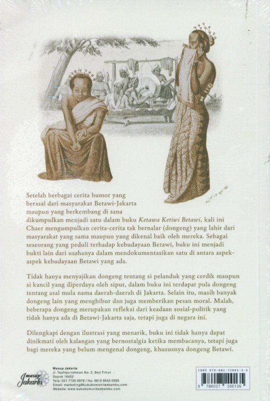 Cover Belakang Buku Dongeng Betawi Tempo Doeloe