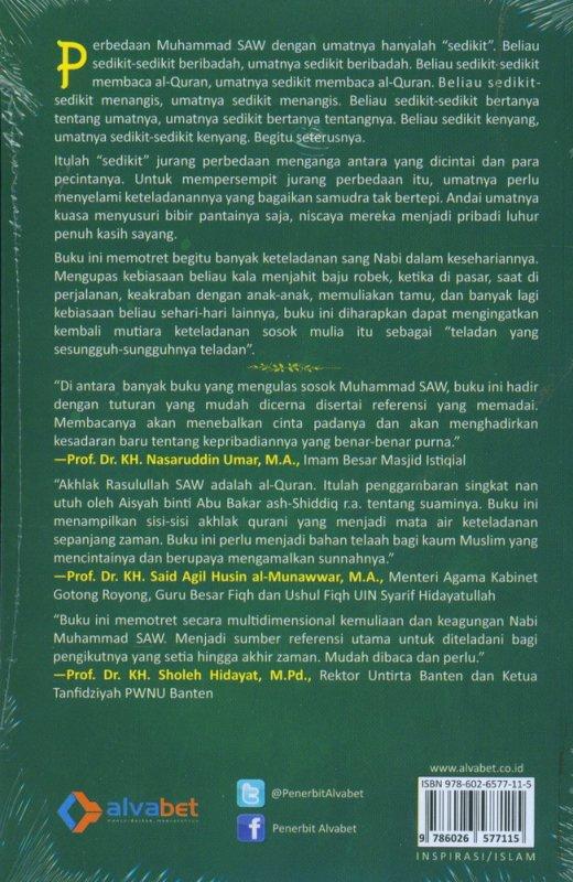 Cover Belakang Buku Samudra Keteladanan Muhammad