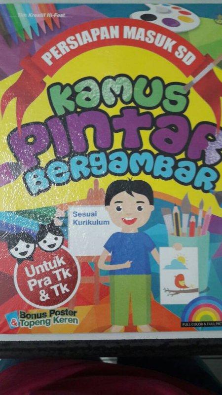 Cover Buku Kamus Pintar Bergambar [full color & full picture]