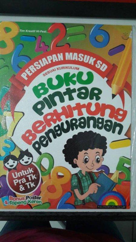 Cover Buku Buku Pintar Berhitung Pengurangan [full color & full picture]