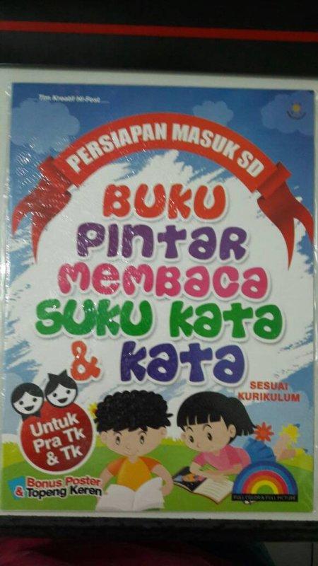 Cover Buku Buku Pintar Membaca Suku Kata & Kata [full color & full picture]