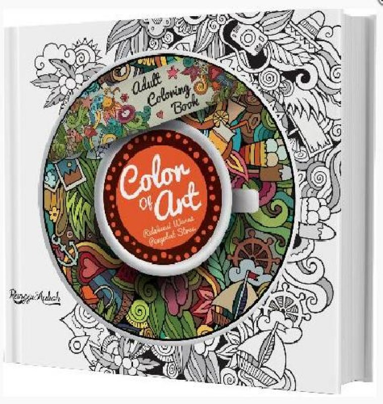Cover Buku Adult Coloring Book: Color Of Art (special offer diskon 50)