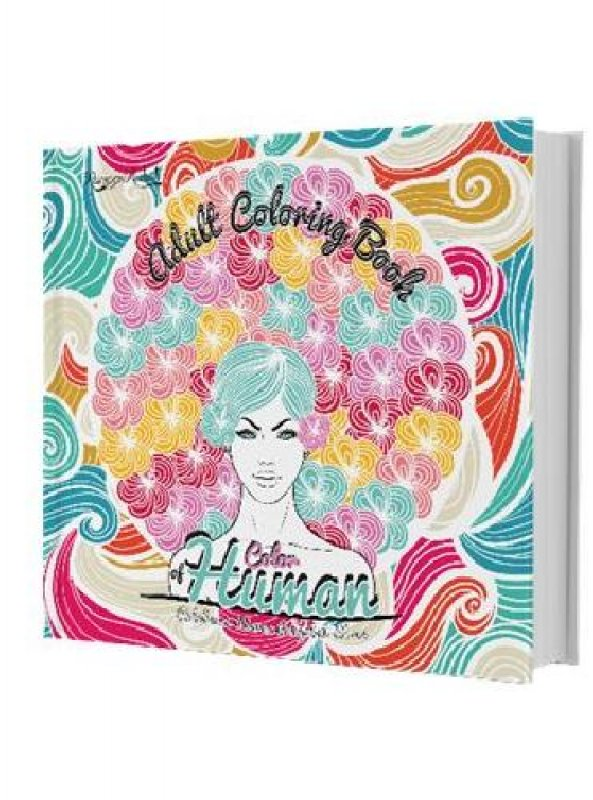 Cover Buku Adult Coloring Book: Color Of Human [Diskon 30%]