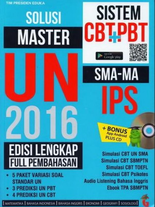 Cover Buku Solusi Master UN 2016 SMA-MA IPS Edisi Lengkap Full Pembahasan (BK) (Disc 50%)