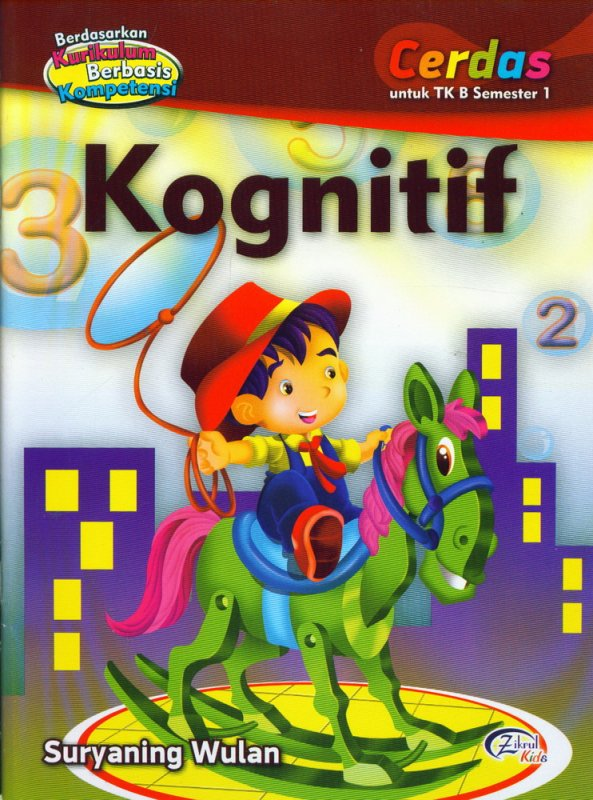 Cover Buku Kognitif, Cerdas untuk TK B Semester 1 (BK)