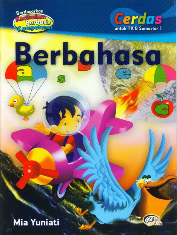Cover Buku Berbahasa, Cerdas untuk TK B Semester 1 (BK)