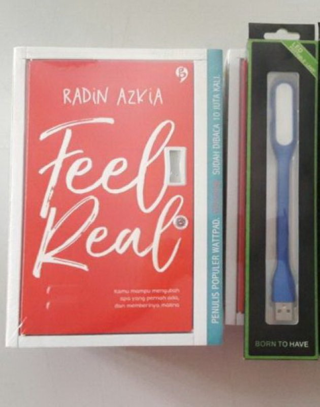 Cover Buku Feel Real (Disc 50%)