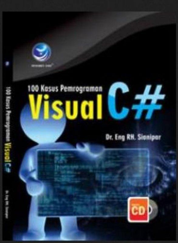 Cover Buku 100 Kasus Pemrograman Visual C# + cd