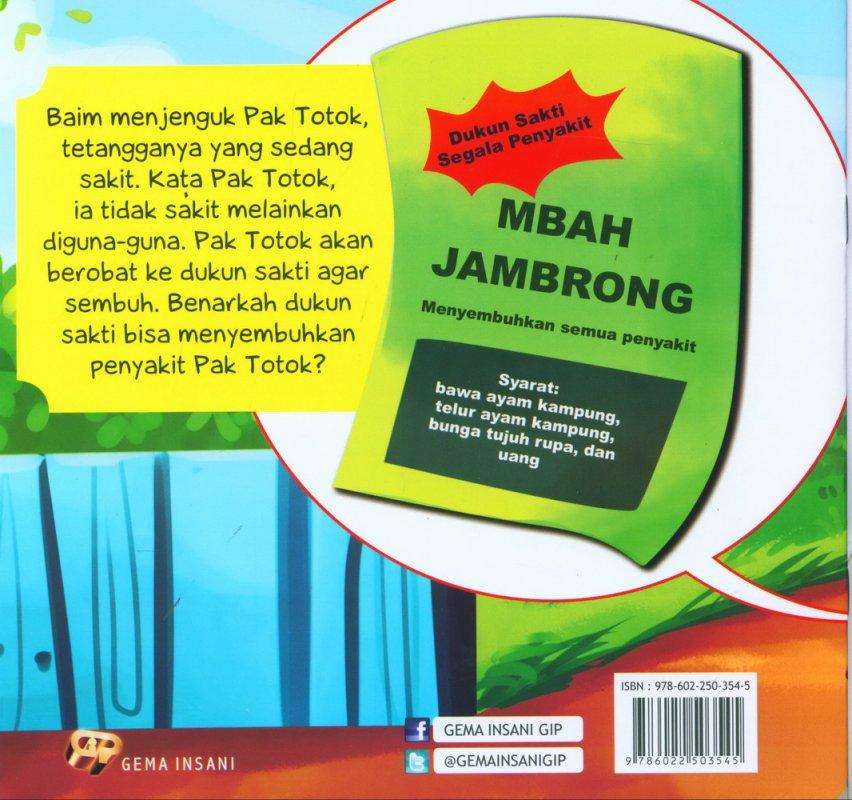 Cover Belakang Buku Seri Tauhid for Kids: Larangan Mendatangi Dukun: Gara-Gara Dukun Sakti