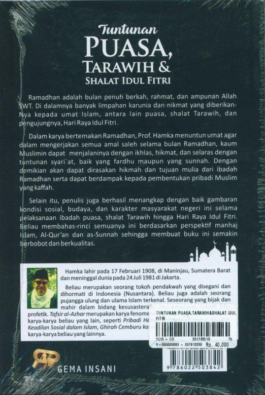 Cover Belakang Buku Tuntunan Puasa, Tarawih & Shalat Idul Fitri