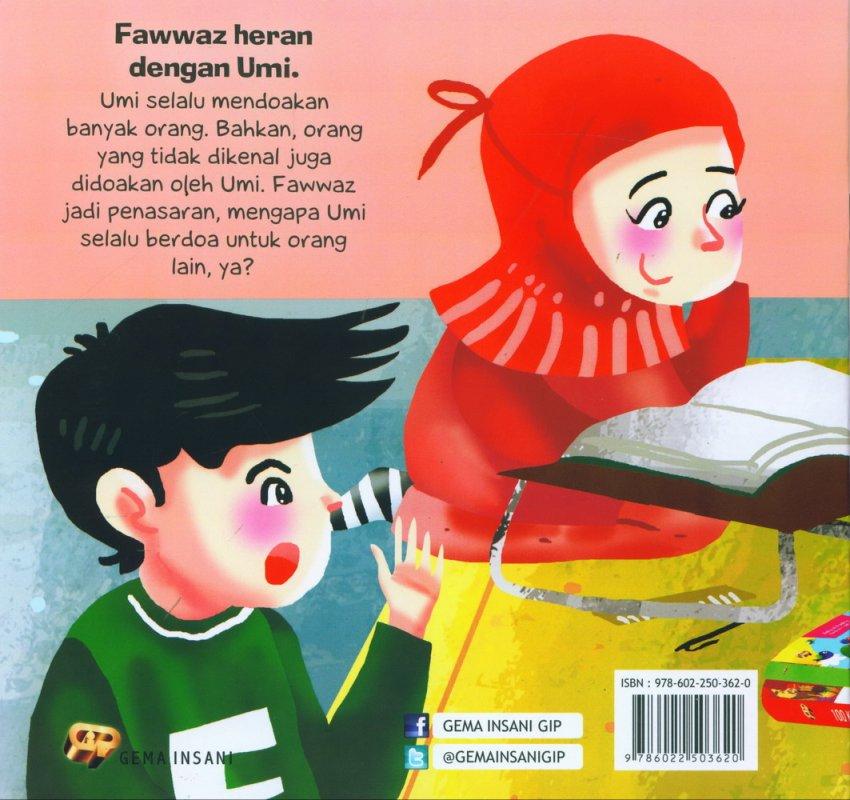 Cover Belakang Buku Seri Anak Saleh Didoakan Malaikat: Doa-doa Umi