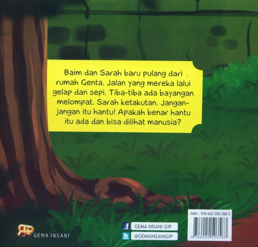 Cover Belakang Buku Seri Tauhid for Kids: Allah Menciptakan Mahluk Ghaib: Jangan Takut Hantu
